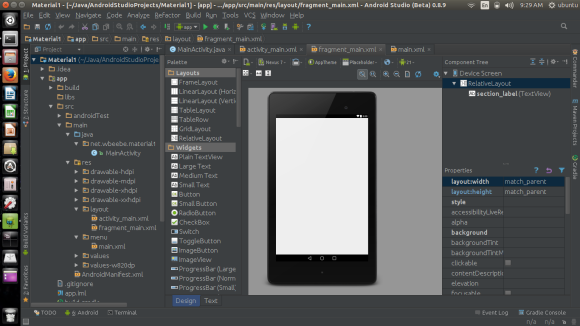 Android Studio transfered to Ubuntu 14.10