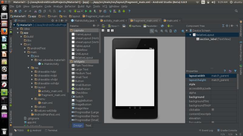 Android Studio transfered to Ubuntu 14.10