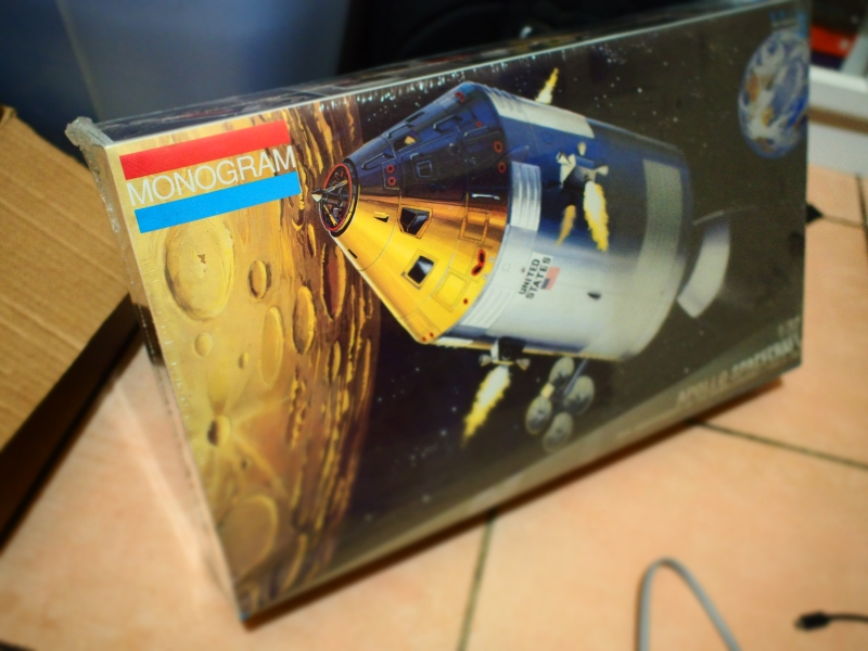 The Monogram Apollo CSM, very dusty and still wrapped in cellophane.