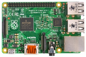 """Raspberry Pi 2 Model B v1.1"" by Multicherry. Licensed under CC BY-SA 4.0"