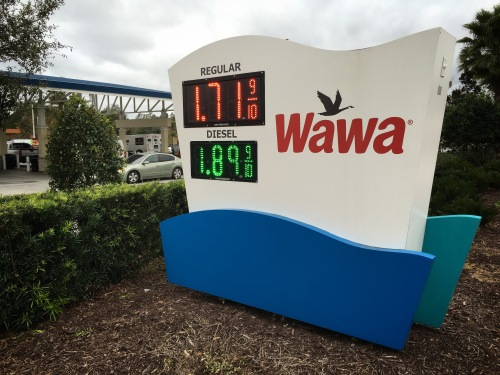 Price of gas near Seaworld Orlando