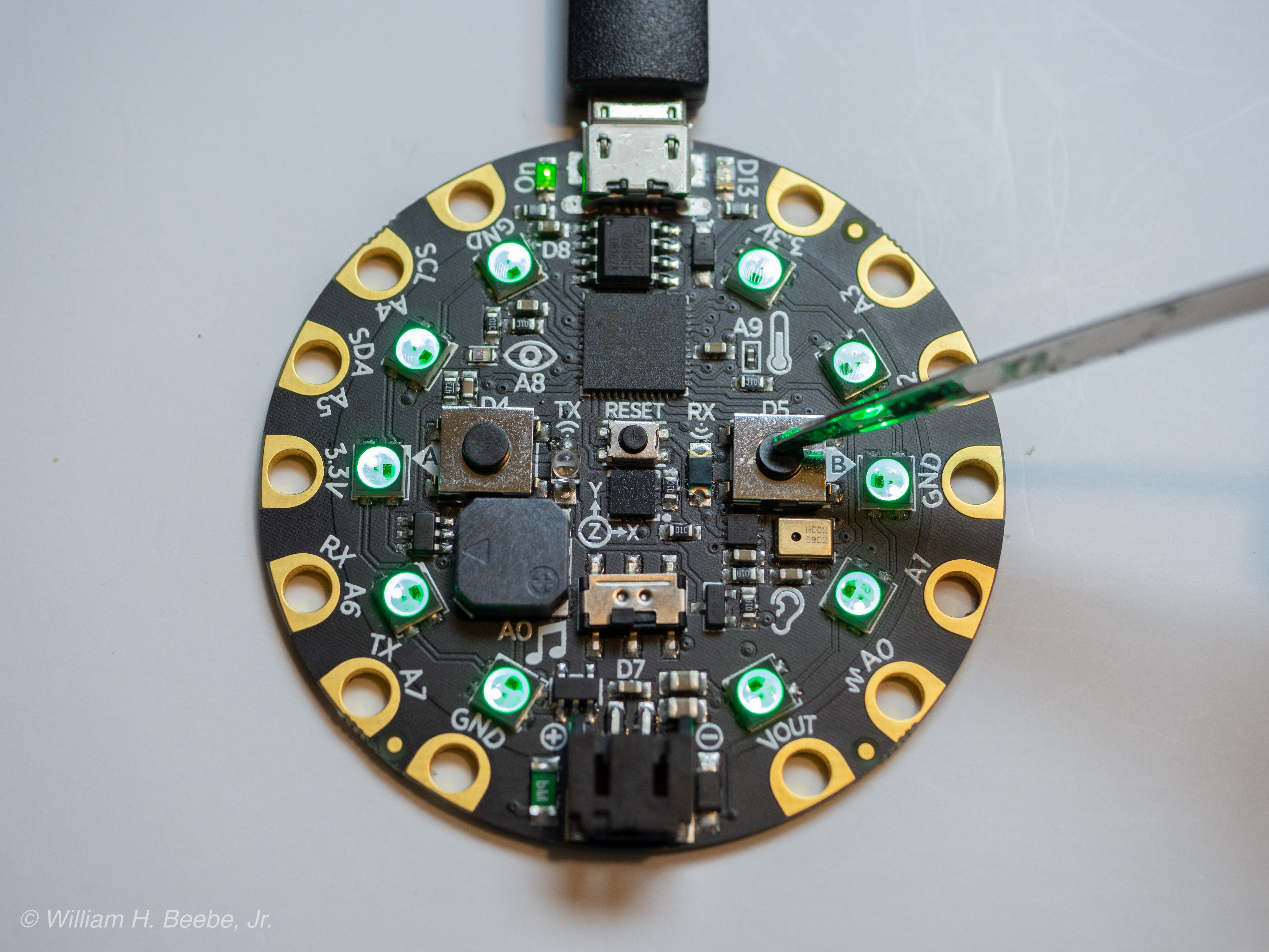 working with the adafruit circuit playground express using